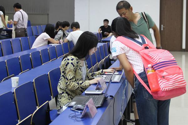 城环学院新生入学教育系列报道(一):入学报到工作顺利